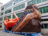 Гигантский осьминог теме океана надувные слайд водными горками для игровая площадка