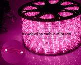 Licht van de LEIDENE Strook Light/LED van de Kabel het Licht/Openlucht/Neonlicht/het Licht van Kerstmis/het Licht van de Vakantie/van het Licht/van de Staaf van het Hotel LEIDENE 1.6W/M van de Kleur 25LEDs van de Draden Lichte Ronde Twee Purpere Strook