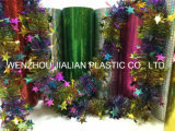 Stijve Holografische/de Film/het Blad van pvc van de Laser met Kleuren voor de Decoratie van Kerstmis