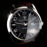 309 Van de Bedrijfs manier van de Kalender van het Horloge van het Leer van mensen In het groot Polshorloge