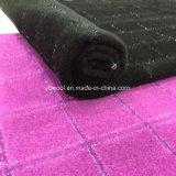 Светлая ткань шерстей проверки щетки пряжи