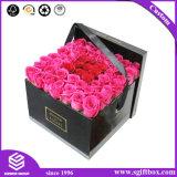 Contenitore su ordinazione super di fiore del Hamper del vasto del fiore cartone nero di trasporto