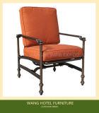 바베큐 테이블 세트를 위한 옥외 가구 가득 차있는 알루미늄 단 하나 썰매 흔들 의자