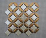 Золото из нержавеющей стали и керамической мозаики стеклянной мозаики настенные плитки
