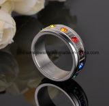 Anillo vendedor caliente al por mayor de la joyería del acero inoxidable del anillo de diamante 316L (CZR2568)
