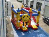 スライドを持つ幸せな時間の弾力がある城の膨脹可能なおもちゃの膨脹可能な警備員