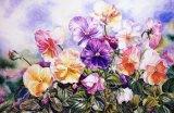 Type estampé par coutume belle peinture de toile de fleurs pour la décoration à la maison