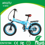 Eco-Friendly 눈 바닷가 4.0 지방질 타이어를 가진 접히는 E 자전거 지방질