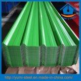 Строительные материалы красят Corrugated гальванизированные сталью листы плакирований толя металла