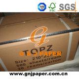 dundrukpapier van de Grootte van 210mm*297mm het Witte In de Verpakking van het Karton