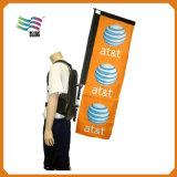 Bandierina di lavoro a maglia del sacchetto dello zaino del poliestere del filo di ordito del Teardrop (A-m123)