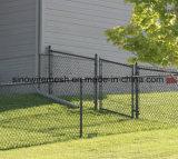 Cerca revestida de cadena galvanizada de la conexión de cadena de la cerca/PVC de la conexión de la INMERSIÓN caliente