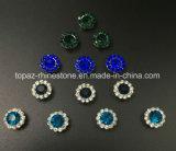 9mm nähen Kristallder himmel-BlauRhinestones mit Metallgreifer-Einstellungen auf den Tasten-Zubehör, die Kleid nähen (TP-9mm Himmelblau)