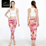 Pantaloni su ordinazione di Capri di ginnastica di Legging di yoga del reticolo per le donne
