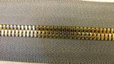 Zipper de bronze 7027