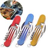 Abrelatas 5 del cuchillo de la fork de la cuchara del acero inoxidable en 1 vajilla