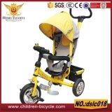 De Driewieler van de baby, de Driewieler van Jonge geitjes, de Driewieler van de Baby van Kinderen met de Staaf van het Handvat