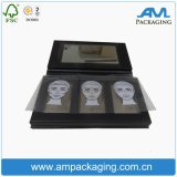 Fancy Packaging Makeup Shadow Box Vente en gros Black Palette with Mirror