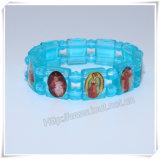 Braccialetto di plastica cattolico all'ingrosso del rosario, braccialetto religioso del rosario (IO-CB162)