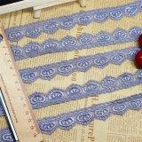 Merletto netto di nylon della maglia di immaginazione della guarnizione del ricamo del poliestere del merletto del ricamo di larghezza del commercio all'ingrosso 2cm delle azione della fabbrica di alta qualità per l'accessorio degli indumenti & la tessile domestica
