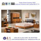 Muebles de cuero gigantes del dormitorio del hotel de lujo de la base (SH-015#)