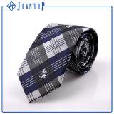 Preiswerter kundenspezifischer Stickerei-Firmenzeichen-Gewebe-Mens gesponnene Polyester-Krawatten