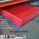 Folha da isolação térmica do material Gpo-3/Upgm203 da esteira da fibra de vidro para soldar