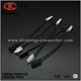 Harness de cableado de encargo de la coleta del conector de la asamblea de cable de la fábrica de China