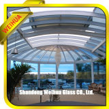 8.38mm Clear / Colored Tempered Lamyated Glass Canopy
