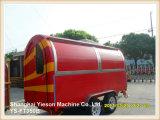 Мороженное Van трейлера мороженного стали Ys-FT350b 3.5m с 4 Windows