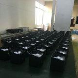 Het UV Draadloze LEIDENE Op batterijen van het Nieuwe Product 4*18W 6in1 Rgbaw PARI van uitstekende kwaliteit kan Irc het Licht van het Stadium van de Afstandsbediening 6/10CH