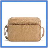 Nuevo bolso de papel material del mensajero de Du Pont, bolso de hombro de papel respetuoso del medio ambiente de las compras del OEM Tyvek con la correa ajustable de nylon