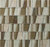 2017 Trapecio mosaico de mármol o mosaico de vidrio para baldosas de pared
