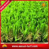 Lockiger künstlicher Rasen-synthetisches Gras für Garten