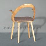 Conception spéciale de chaise en bois de frêne creux avec rembourrage de PU (SP-EC632)