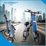 2017 Nouveau vélo électrique pliant dans le cadre en alliage en aluminium, avant & arrière Amortisseur double, double disque de frein arrière