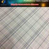 Почищенная щеткой ткань проверки пряжи полиэфира покрашенная с мягкой ворсиной для одежды