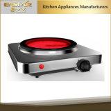Fornello infrarosso 1200W della singola stufa di ceramica che cucina piatto