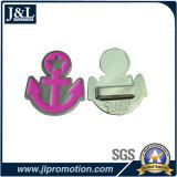 Pin macio do Lapel do esmalte do projeto do cliente com chapeamento niquelar brilhante