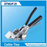 Type serre-câble pulvérisé par plastique de Releaseable d'acier inoxydable