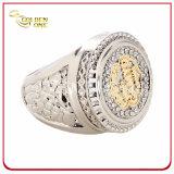 Toon Twee van uitstekende kwaliteit beëindigt de Ring van het Metaal van de Douane met Bergkristal