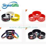 O costume gravou/Wristband do silicone do logotipo/bracelete imprimido/impresso do silicone/bracelete de borracha
