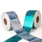 Escritura de la etiqueta impresa etiqueta engomada adhesiva de papel del espacio en blanco de la impresión de la impresión