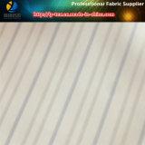 Guarnición de la ropa de la piel en la tela teñida hilado de la raya del poliester (S144.145)