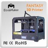 PLA dell'ABS di plastica della scuderia 3D di Ecubmaker della stampante di stampa professionale di prezzi bassi 3D