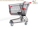 Supermarché asiatique de style 85L Chariot à carreaux Shopping Cart Buy Trolley