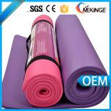 Пригодность и циновка йоги безопасной черной циновки йоги резиновый с планкой