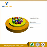 Tight Buffer Kevlar Yarn 2 Cores Singlemode Fiber Optic Cable for Distribution