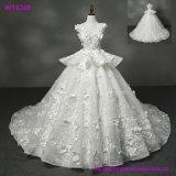 Прелестно платья венчания Tulle отбортовали линию мантии шарика платьев безрукавный страны lhbim Bridal