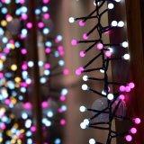 La última luz de la cadena de White+Pink LED para la decoración